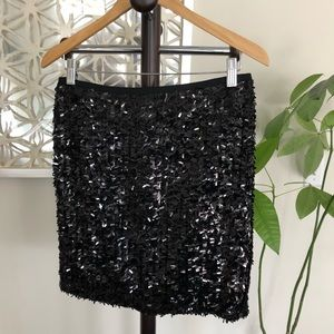 Ann Taylor Black Sequined Skirt size 4-excellent!
